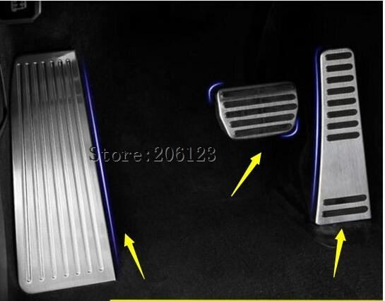 Accelerator Brake pedal decoration decals 2018 2019 for Volvo XC60 Stainless steel Rest pedal Car interior accessories