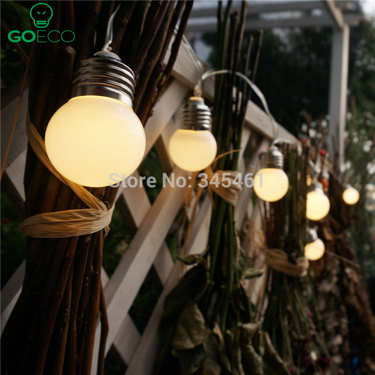 1x led solar powered led string light 4m 10 g50 bulb waterproof 1x led solar powered led string light 4m 10 g50 bulb waterproof globe led string lights for fencepatioyardgarden whitewarm in solar lamps from lights aloadofball Image collections