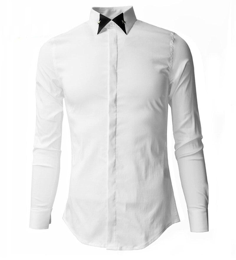 xxxl Encolure Longues Casual 3d Chemises Classique Noir De Hommes 100 M Manches Marque Livraison Coton Luxe Métal Blanc noir À Gratuite Vêtements Beige 8nUA6