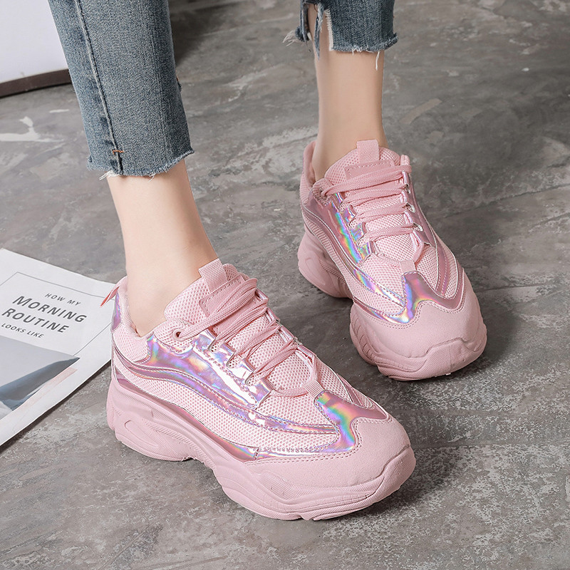 COOTELILI Spring Women Sneakers Breathable Women Flat Platform Shoes Woman Casual Creepers Women ShoesCOOTELILI Spring Women Sneakers Breathable Women Flat Platform Shoes Woman Casual Creepers Women Shoes