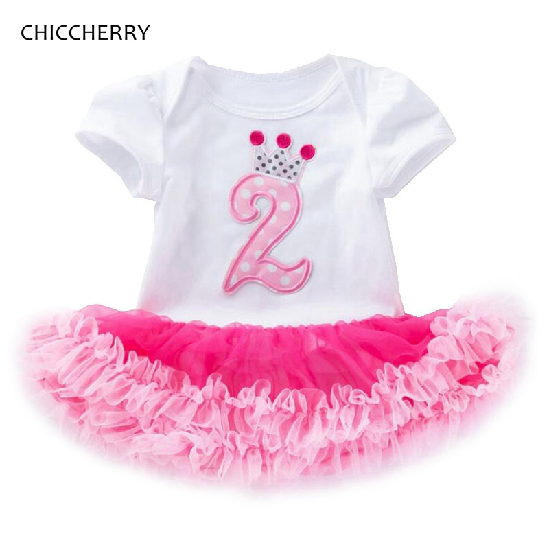 <font><b>2</b></font> Years <font><b>Birthday</b></font> Tutu <font><b>Dresses</b></font> For Girls Infant Lace Romper <font><b>Dress</b></font> Baby Girl Clothes 2nd Toddler <font><b>Birthday</b></font> Outfits Bebek Elbise image