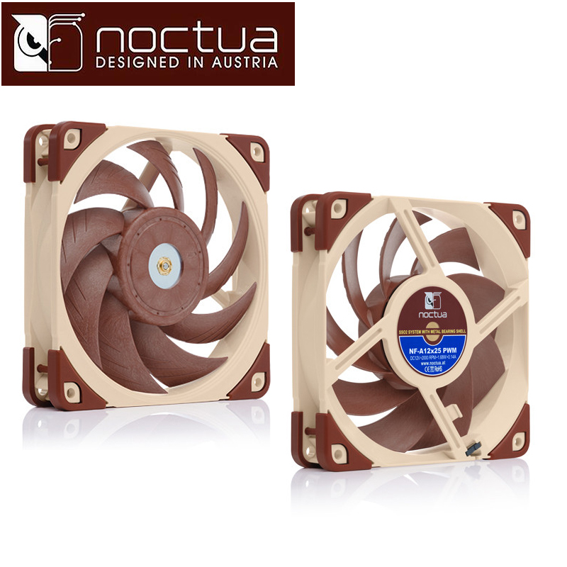 Noctua NF-A12x25 PWM ULN FLX 12cm 120mm PC computer case Fan CPU Cooling Cooler heat sink radiator 3p 4p Fan вентилятор noctua nf s12a uln 120mm 800rpm