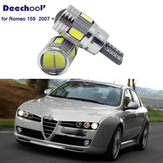 Deechooll 2 個 W5W LED 電球車アルファロメオ用の 159 、 canbus T10 6/27SMD クリアランスライトロミオ 159 2007 + インテリアランプ