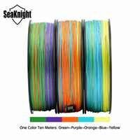 SeaKnight Monster W8 multicolore 8 brins PE ligne de pêche 300M lignes tressées lisses carpe pêche 15 20 30 40 50 80 100LB