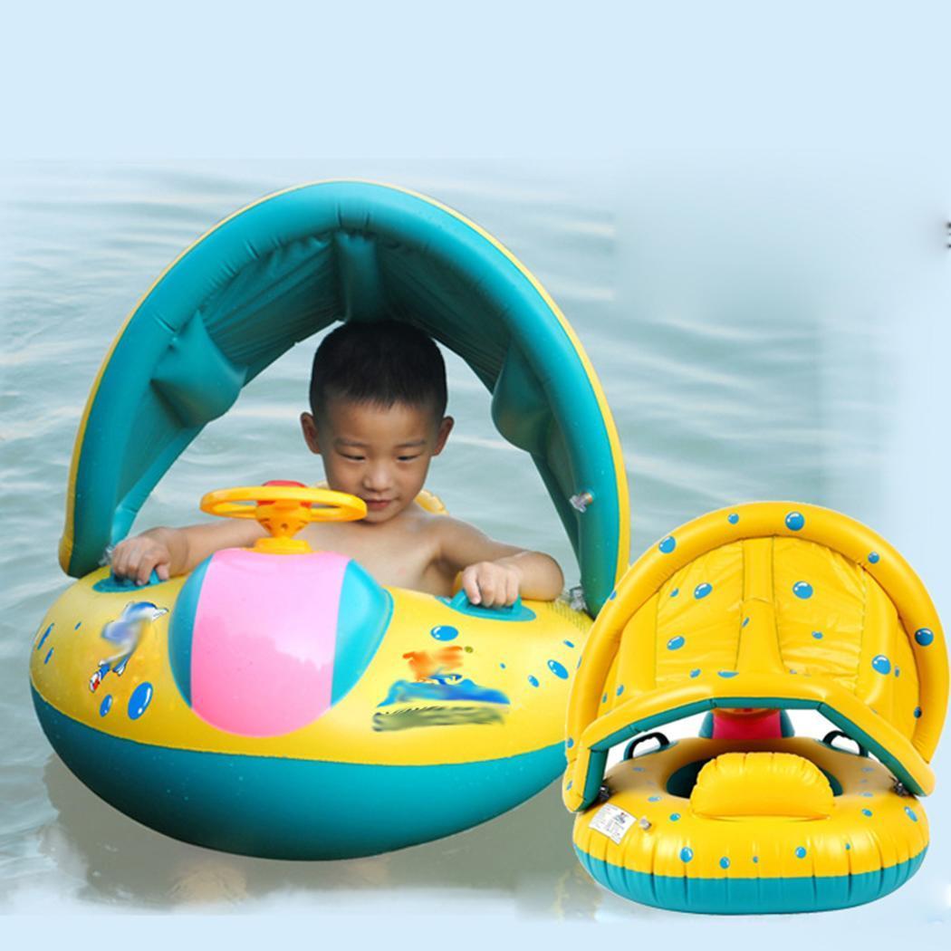 Kids Baby Summer Swimming Pool Swimming Ring Inflatable Swan Swim Float Water Fun Pool Toys Swim Ring Seat Boat Sport For 3-6Y