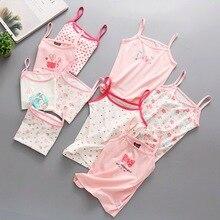Хлопковый жилет для маленьких девочек; розовые Детские майки; Camisoles; Летние футболки без рукавов для маленьких девочек; топы; футболки; верхняя одежда