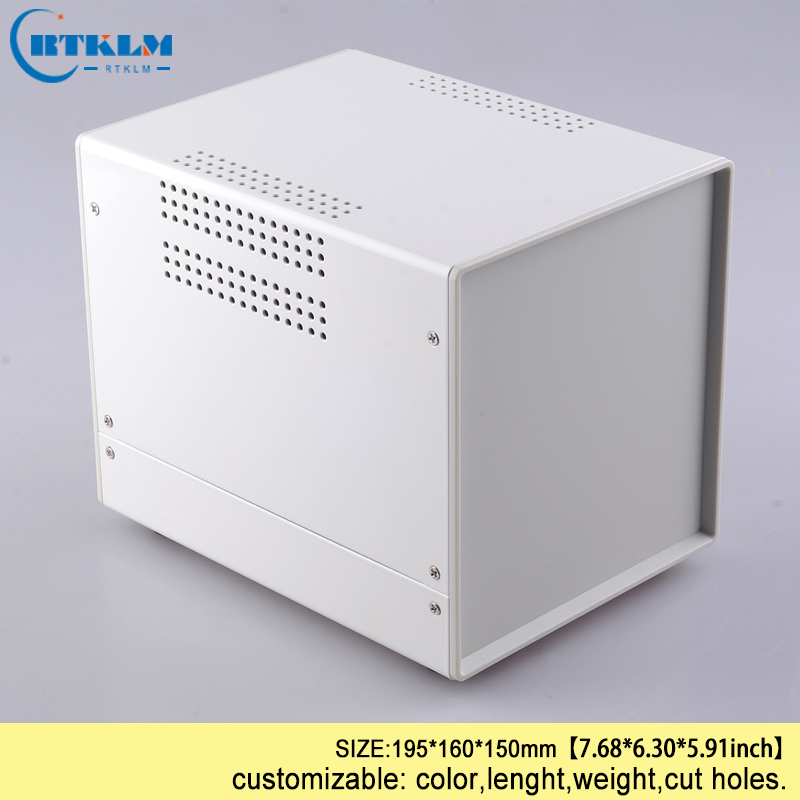 Custom iron enclosure Metal project box diy electronic box for junction box profiles suppliers instrument case 195*160*150mm laboratory balance scale 50g 0 001g high precision jewelry diamond gem lcd digital electronic scale counting function portable