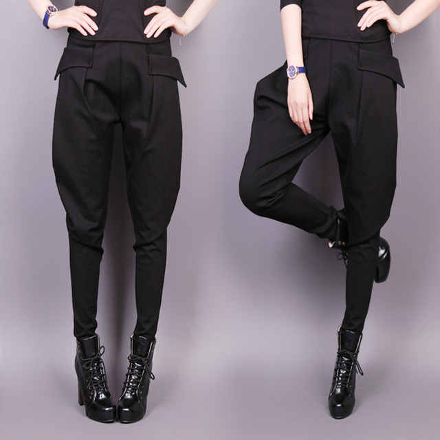 2016 autumn new Korean large size women small fashion pants collapse thin female casual harem pants feet lady winterpants S2721