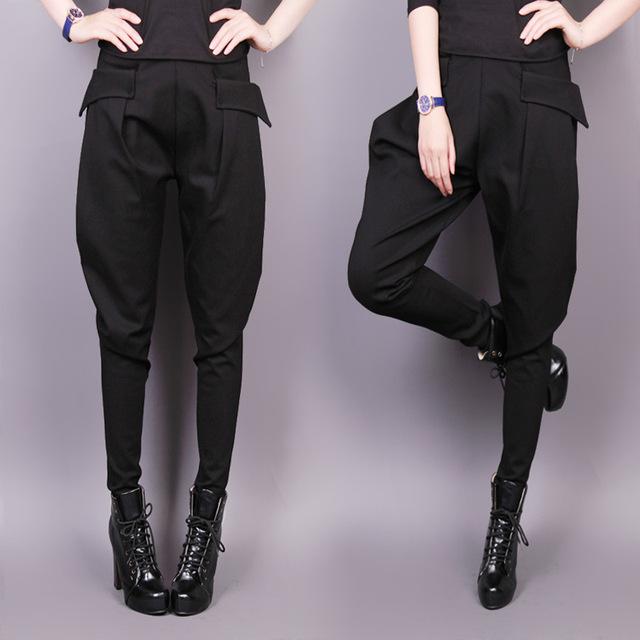2016 otoño nueva Corea mujeres de gran tamaño pequeño colapso pantalones de moda femenina delgada pantalones harem ocasional pies señora winterpants S2721