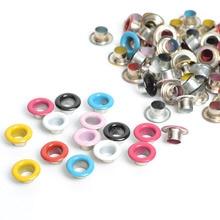 100 шт. металлические люверсы для скрапбукинга поделки для домашней работы швейная Одежда Люверсы для шитья одежды