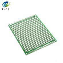 1 шт. TZT 7x9 7*9 см двухсторонний Прототип PCB Луженая универсальная плата экспериментальная пластина схема отверстие хлеб доска зеленый