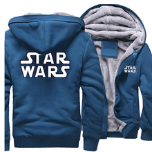 Star Wars New Style 2019 TV Show Men Hoodies Sweatshirt Spring Thick Fleece Mens Hooded Plus Size Jacket Zipper Tracksuit CM01