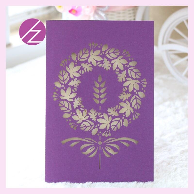 30pcs Laser Cut Wedding Invitation Card Japanese Flowers