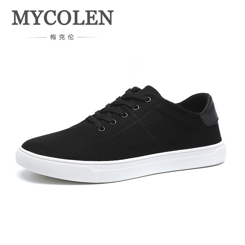 MYCOLEN Autumn Spring Men Shoes Comfortable Breathable Lace Up Casual Shoes Black Top Quality Men Shoes Zapatos Deportivos klywoo new white fasion shoes men casual shoes spring men driving shoes leather breathable comfortable lace up zapatos hombre