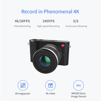 YI M1 Mirrorless Digital Camera International Version With YI 12-40mm F3.5-5.6 Zoom Lens LCD RAW 20MP Video Recorder 720RGB H264 2