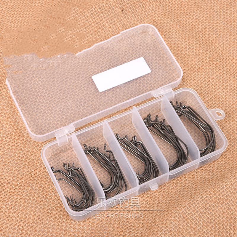 50pcs/set mixed size #1~3 high carbon steel carp fishing hooks pack with hole with Retail Original box Jigging Bait Wholesale