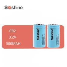 2 sztuk oryginalny SOSHINE LiFePo4 15266 z przepisami dla lotów według wskazań przyrządów (IFR) CR2 300MAH 3.2V akumulator baterii LIFEPO4 baterie niebieski