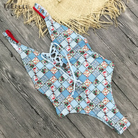 2018 Sexy One Piece Swimsuit Women Swimwear Push Up Monokini Padded Swim Suit Bandage Bodysuit Bathing Suit Summer Beachwear 5