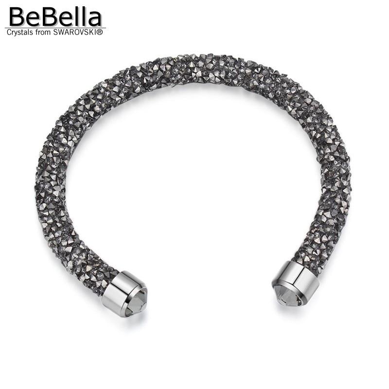 c2c6bfa5b8ca BeBella cristal rocas polvo Delgado brazalete abierto brazalete con  cristales de Swarovski para mujeres niñas joyería de moda regalo 2018 en  Brazaletes de ...
