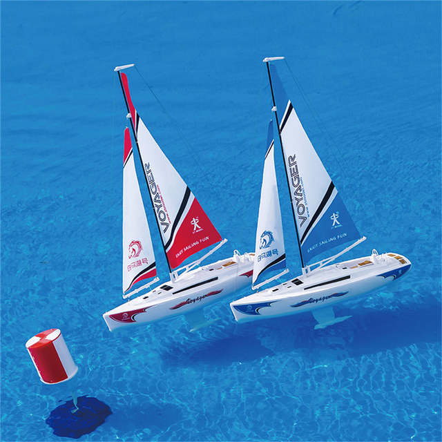 ZT Model AB03401 Voyager 1/43 2 4G Electric Mini Rc Sailboat Ship Boat  Model 1 hours Using Time Outdoor Toys For Boy Toys Gifts