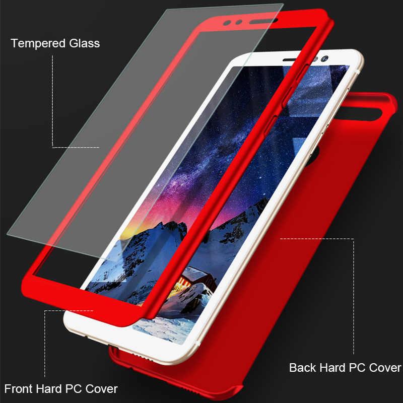 360 Full Cover Case untuk Huawei P8 P9 P10 P20 Lite Y5 Y6 Y7 2017 P Smart Kaca Kasus huawei Nova 2 Plus 2i 3i Mate 10 20 Lite