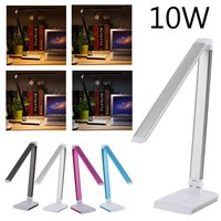 10W LED Deak Lamp Students Office Adjustable Foldable Light Touch Light EU Plug Eye Protecting White