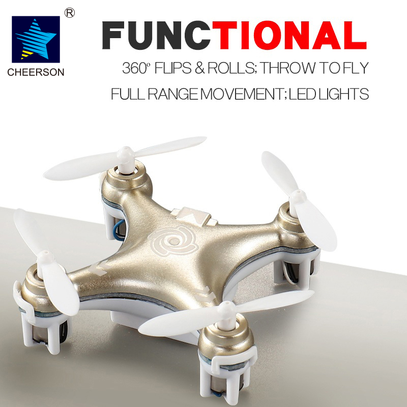 Cheerson CX10A CX-10A 2.4GHz 4CH RC Mini Drone Quadcopter UFO With Headless Mode Quadrocopter Toys For Children