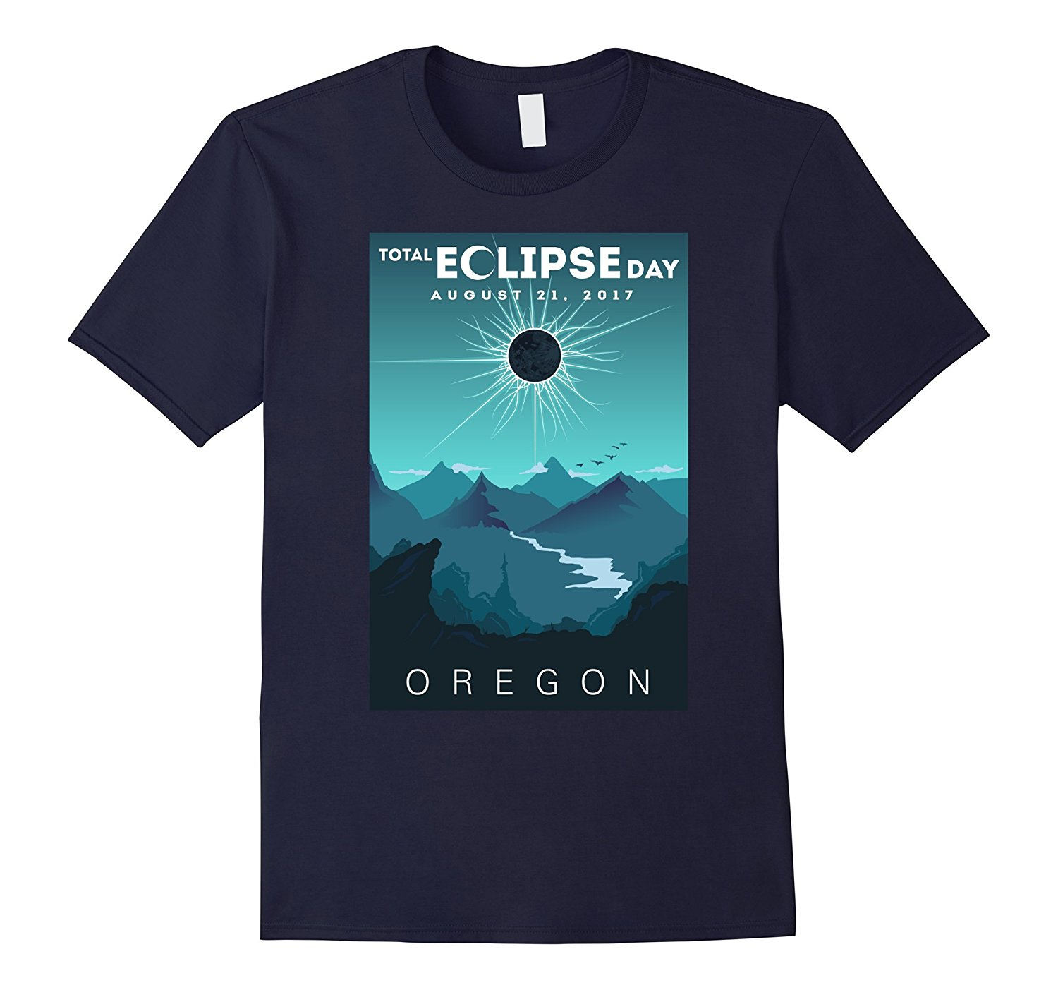 Total Solar Eclipse Oregon 2018 T Shirt Total Eclipse Tee T Shirt O Neck Fashion Casual High Quality Print T Shirt