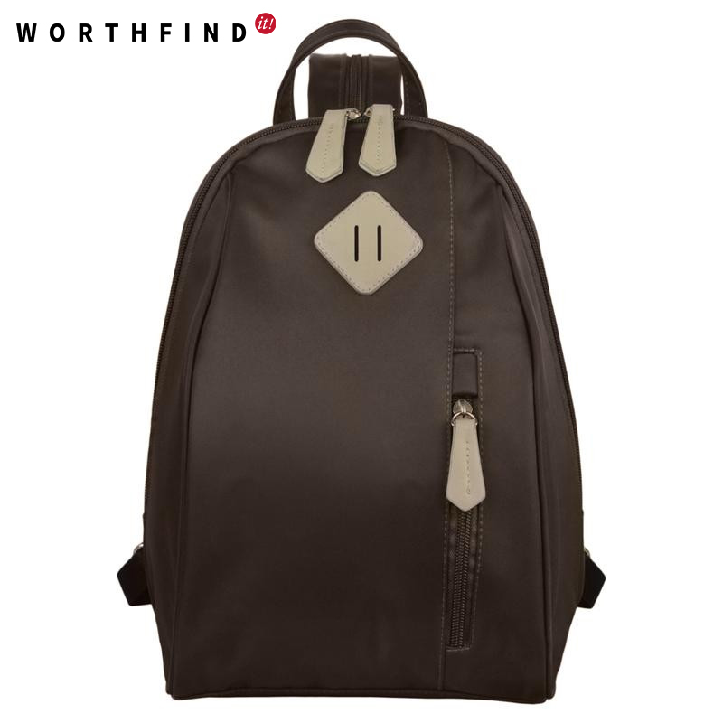 цены WORTHFIND Women Backpack Shoulder Bag Nylon Backpacks School Bags For Teenage Girls Canvas