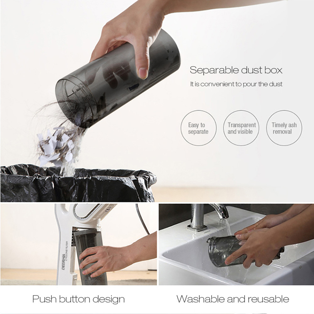 Xiaomi Deerma DX700 Handheld Vacuum Cleaner Household Silent Vacuum Cleaner 15000Pa Strong Suction Dust Collector Home Aspirator