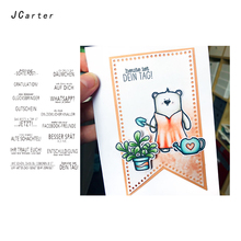 JC German Clear Rubber Stamps for Scrapbooking Sheet Silicone Seals Craft Stencil Album Words Paper Card Making Template