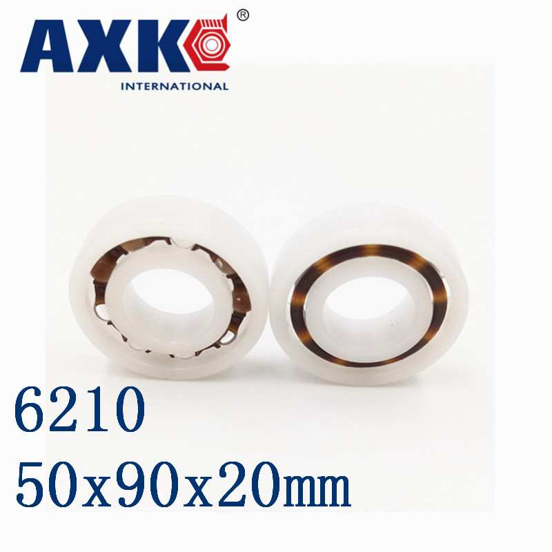 Axk 6210 Pom (10pcs) Plastic Ball Bearings 50x90x20mm Glass Balls 50mm/90mm/20mm 6310 pom 10pcs plastic ball bearings 50x110x27mm glass balls 50mm 110mm 27mm