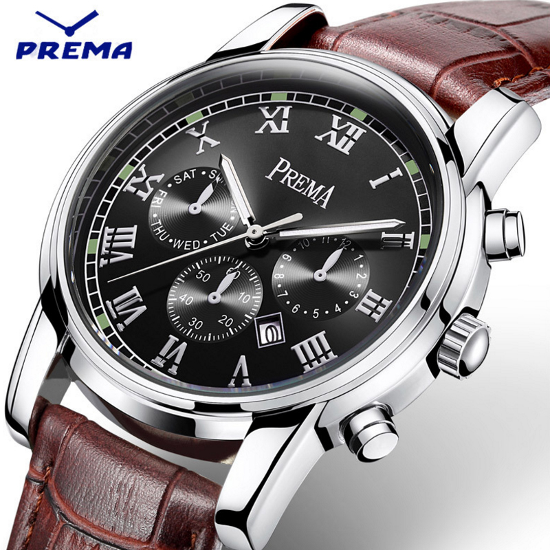 Image 4 - Prema Men watches 2019 luxury brand stainless steel waterproof quartz brand wrist Watch male bracelet Wristwatches gift clockWomens Watches   -