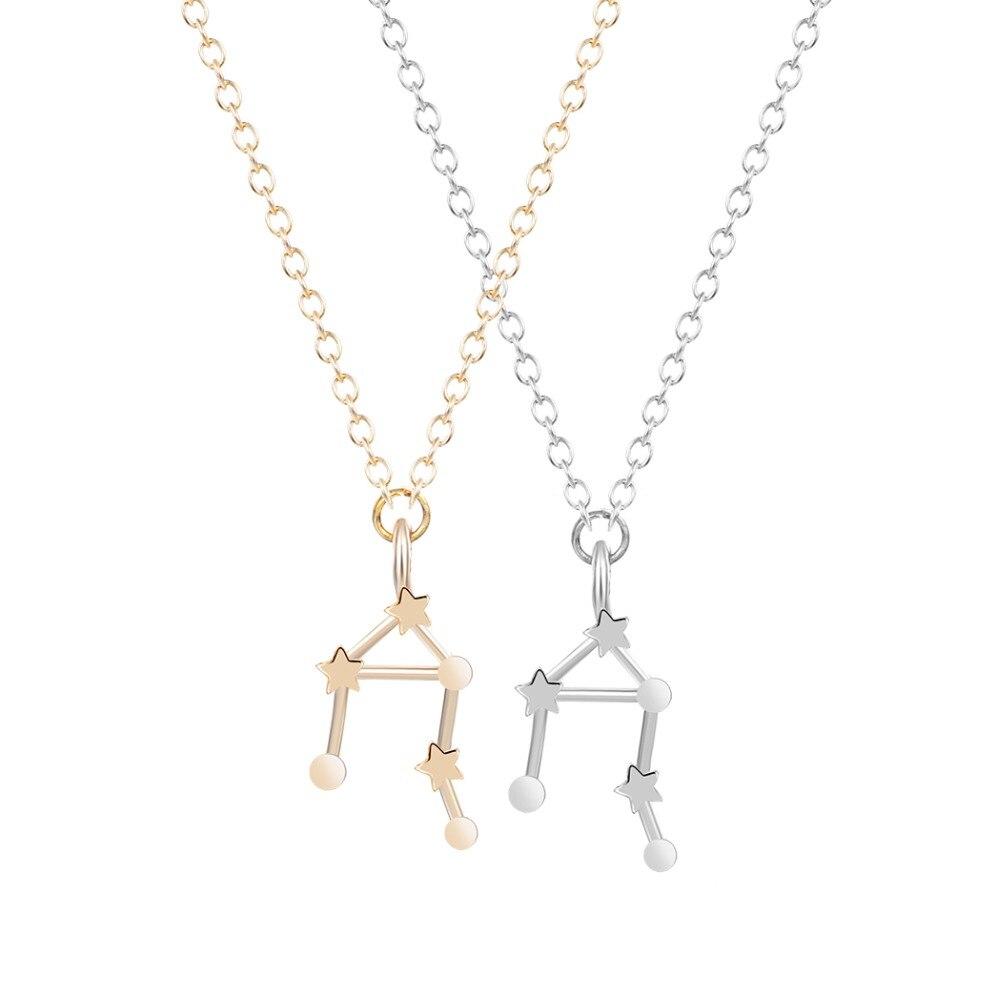 Aliexpress Com Buy 12 Zodiac Signs Constellation: Libra Zodiac Sign Astrology Necklace Constellation Jewelry