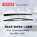 "Rear Wiper Arm with Blade for Citroen Xsara Picasso (2000-2010) 1pc 16"" 400mm,Rear Wiper Arm & Rear Wiper Blades"