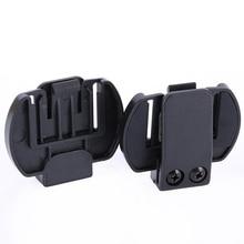 2 предмета Vnetphone V6 V4 V2-500C аксессуары для внутренней связи шлем домофон клип Монтажный кронштейн мотоциклетные BT наушники с Bluetooth