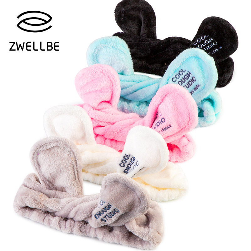 Image 1 - Elastic Rabbit Ears Headscarf Eyelash Extension Soft Face Washing Headband Hair Band Holder Bath Spa Lovely Makeup Accessories-in False Eyelashes from Beauty & Health