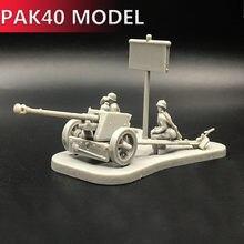 4d 1:72 cenário pak40 conjunto modelo canhão montagem brinquedos puzzles construção tijolos modelo de brinquedo