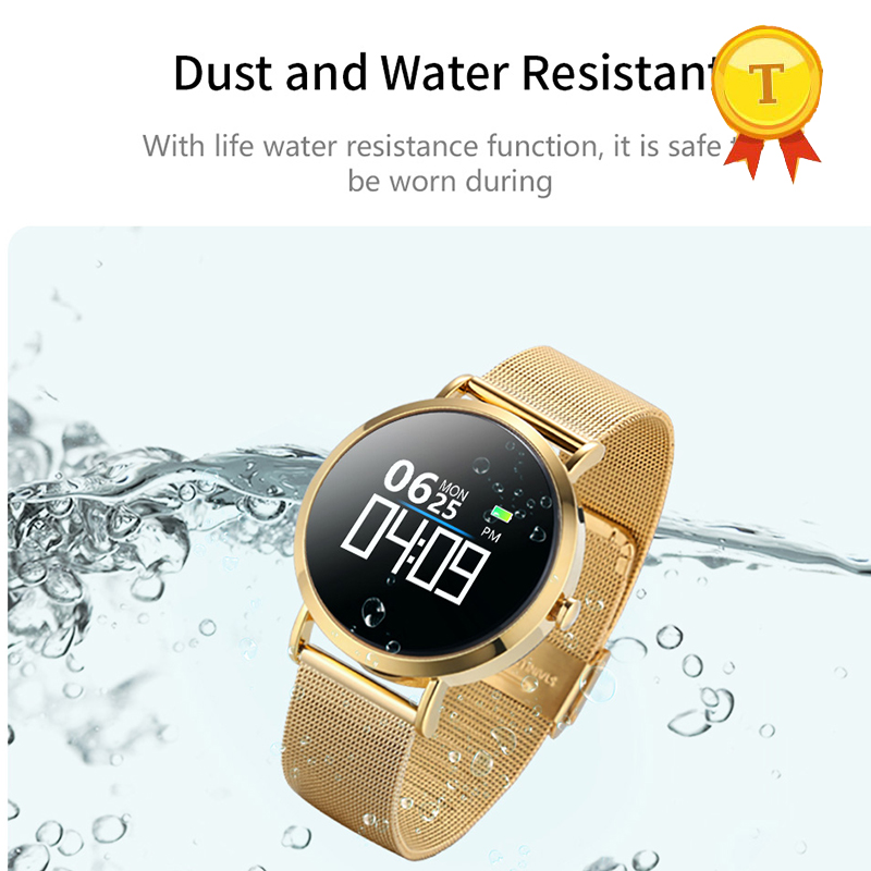 new business style Blood Pressure steel Smart Sport Band Heart Rate Fitness Tracker real Waterproof Clock swimming Smart Watch-in Smart Wristbands from Consumer Electronics    3