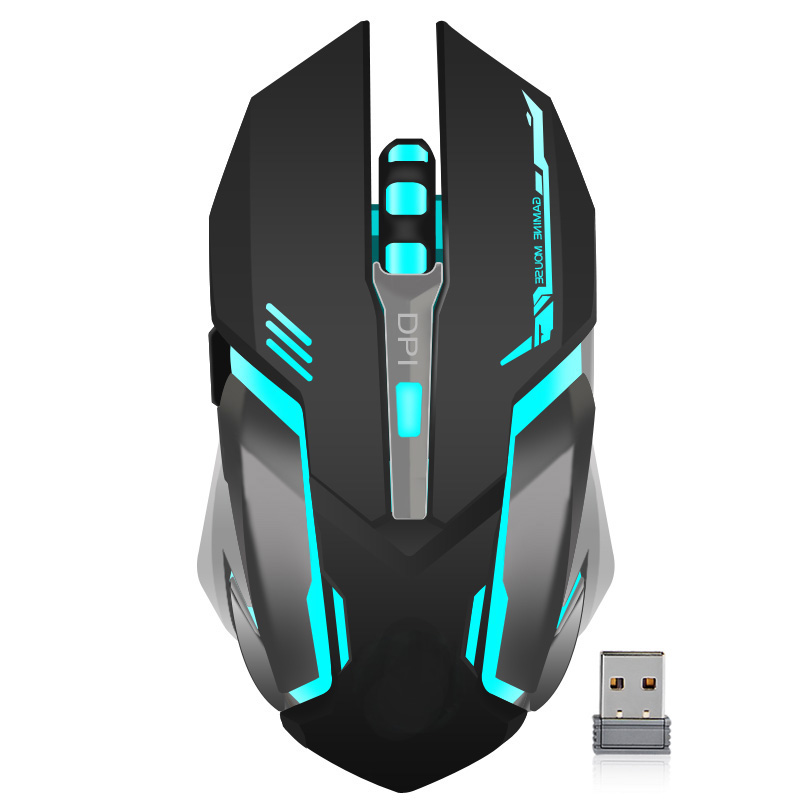 Gaming Optical Mouse USB Wireless/Wired Computer Laptop Colorful Backlit Mouse Positioning Accuracy Rechargeable Lithium Battery