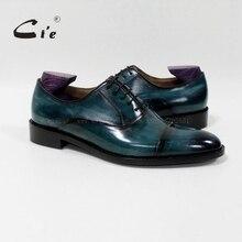 Cie Patina синий павлин ручной работы Блейк/Макей телячья кожа верхняя подошва дышащая мужская одежда Оксфорд мужские кожаные туфли OX-05-25