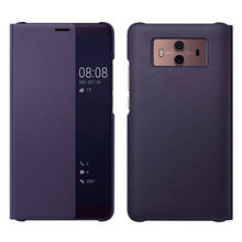 Capa de telefone inteligente de couro, capa de visão flip para huawei mate 10 pro mate10 10pro mate10pro, capa magnética de luxo à prova de choque 360