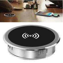 5W 10W 15W Built-In Desktop Qi Wireless Charger Perangkat untuk iPhone Charging Plate Portable Charger Mat mobile Power Charger(China)