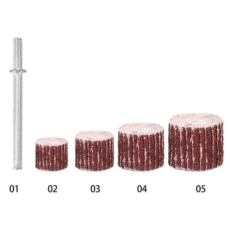 10pcs טחינת דש גלגלי מברשת מלטש דש דיסק חול Dremel אביזרי עבור שוחקים מטחנות רוטרי Dremel כלים 10- 20mm