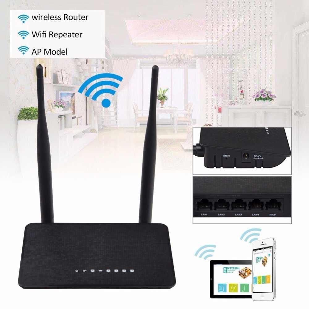KuWFi Wifi 300Mbps Không Dây Wifi Repeater Không Dây Mở Rộng 2.4 GHz Smart Wifi Router MT7628KN Chipset Với 2 Chiếc ăng ten