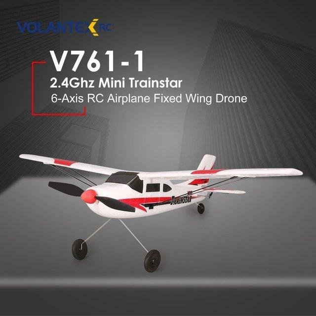VOLANTEX V761 1 2.4Ghz 3CH 미니 Trainstar 6 축 원격 제어 RC 비행기 고정 날개 드론 비행기 RTF 어린이 선물 선물