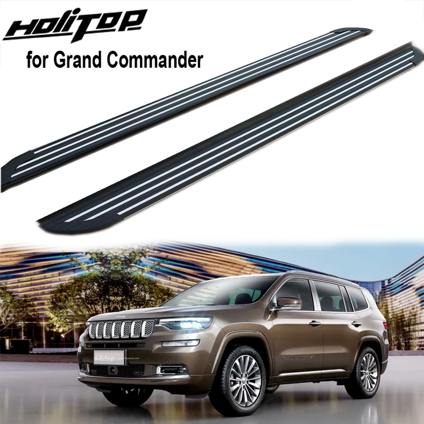 hottest side step nerf bar foot steps for jeep grand commander(2018 2019) OE model fit for origin car very well good comment.|Armrests| |  - title=