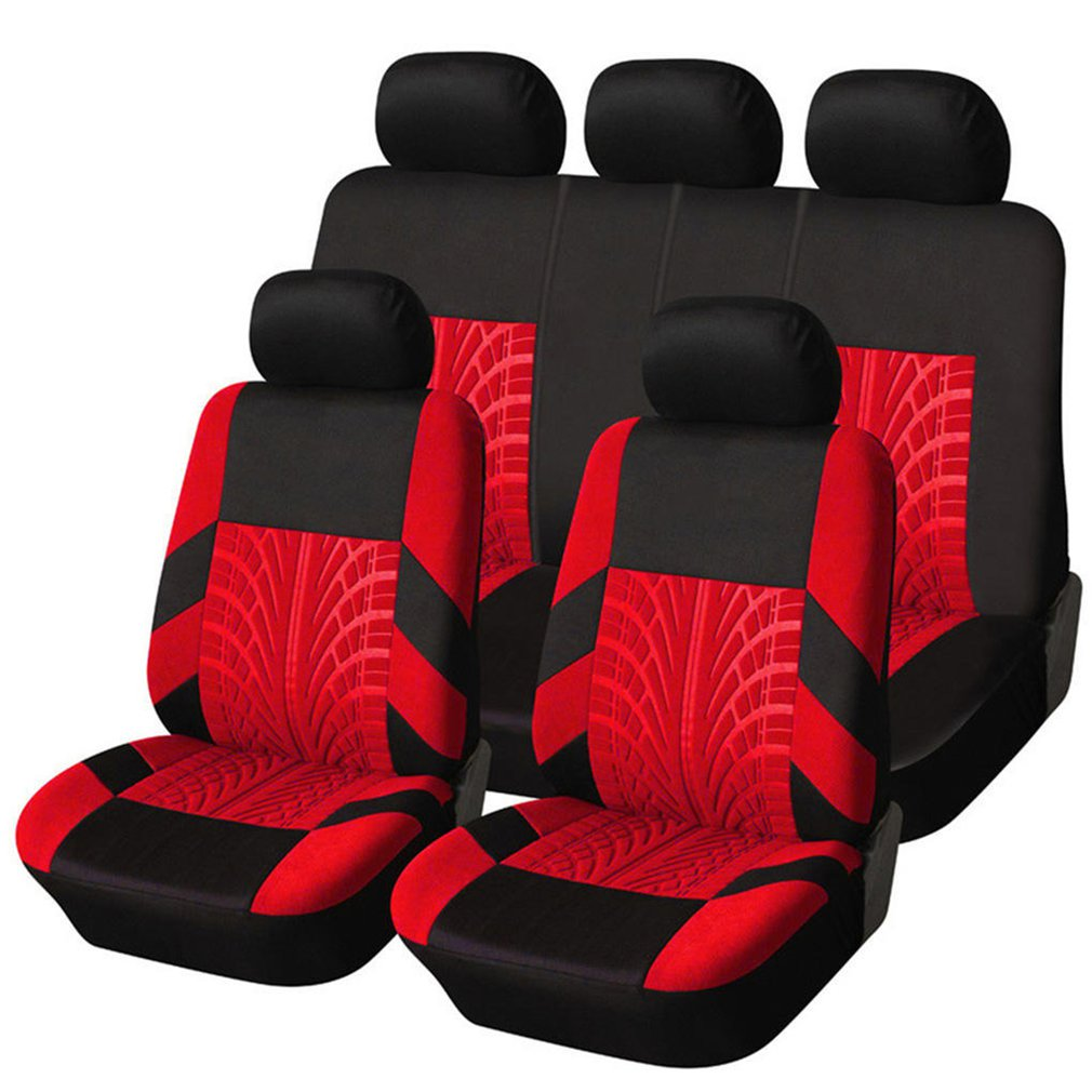 Comfortable 9PCS/SET Universal Car Seat Coves Mats Vehicles Seat Covers Non-slip Car Interior Styling Seat Cover
