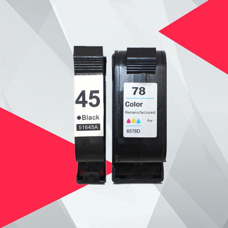 Compatible ink font b cartridges b font For HP 45 78 deskjet 1220c 3820 3822 6122