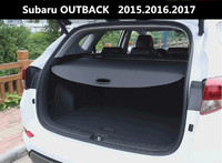 Car Rear Trunk Security Shield Cargo Cover For Subaru OUTBACK 2015 2016 2017 High Qualit Black